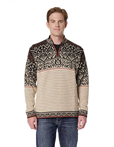 Invisible World Men's 100% Alpaca Wool Sweater Half Zip Nordic Pullover XXL