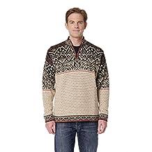 Invisible World Men's 100% Alpaca Wool Sweater Half Zip Nordic Pullover Max
