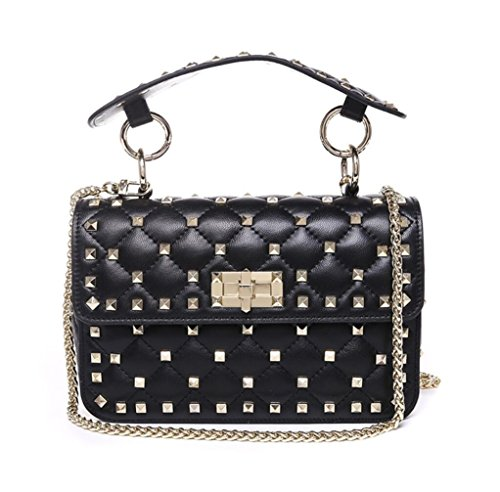 à sac à Black Mesdames Lingge en main rivet sac bandoulière bandoulière à small cuir sac PqvP8wg