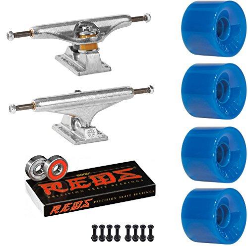飾り羽改修眠りIndependentスケートボードキット149 Trucks OJ Mini Juice 55 mm 78 a WheelsブルーReds