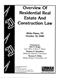 Overview Of Residential Real Estate And Construction Law in New York
