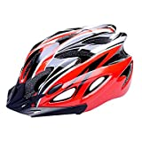 MCH-FJQXZ EPS+PC Red and Black Integrally-molded Cycling Helmet(18 Vents)