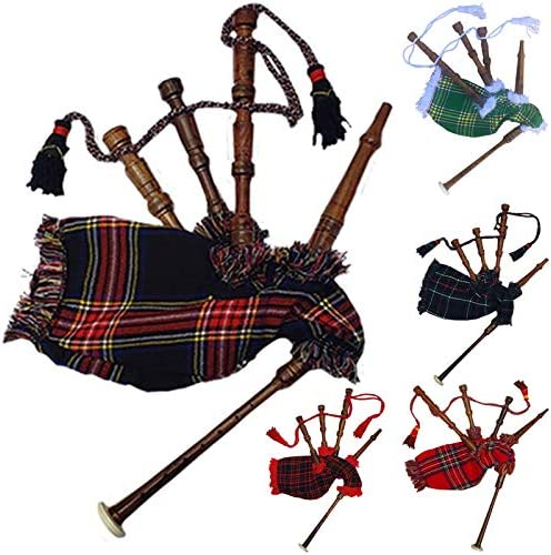 New Baby Mini Bagpipe Toy Playable Beginner Rose wood Black Stewart Cover & Cord Free 2 Reed / New Baby Mini Bagpipe Toy Playable Beginner Rose wood Black Stewart Cover & Cord Free 2 Reed