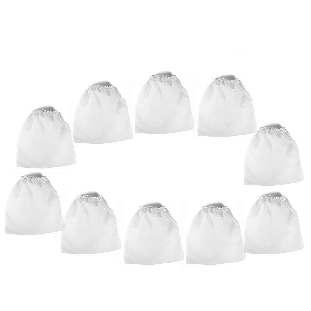 Sacs d'aspirateur - sacs de rechange d'aspirateur non-tissé d'ongle, pour des outils de salon de collection de poussière d'ongle d'art, 10pcs Dewin