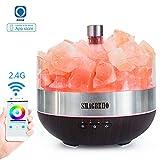 SMAGREHO Alexa Voice-Controlled Salt Lamp, 400ML WiFi Smart...