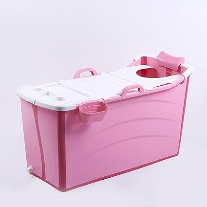 XXCCL Bañera Plegable Adulto Barril De Baño Temperatura De Bloqueo De 360 ° Antideslizante Resistencia A