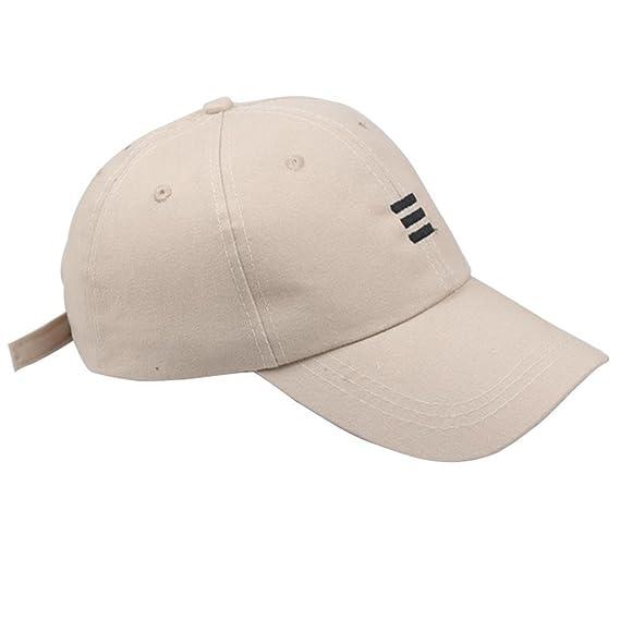 Rovinci Unisex Sombreros Hip-Hop Ajustable Gorra de béisbol Gorra de béisbol  de Tenis de Color sólido Tapa de Cola de Caballo (Beige)  Amazon.es  Ropa y  ... 77c9b356f79