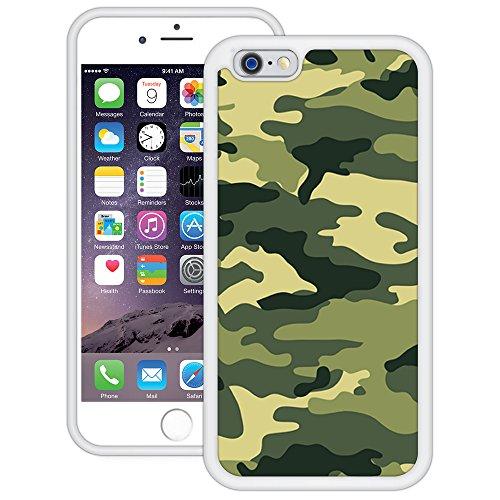 Grüne Tarnung Armee   Handgefertigt   iPhone 6 6s (4,7')   Weiß TPU Hülle