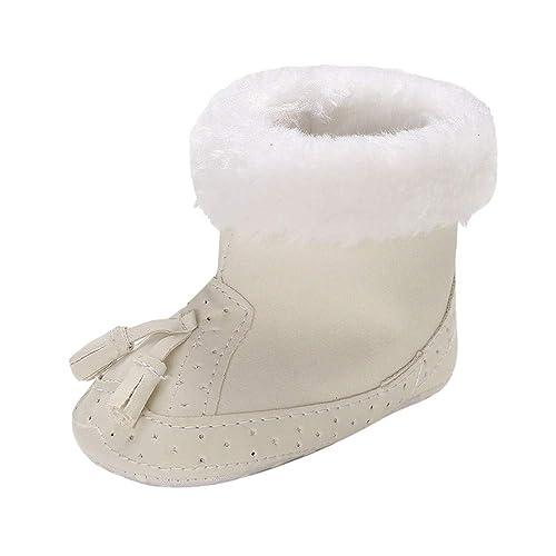 ❤ Amlaiworld Botines de Nieve para bebé recién Nacido niños niñas Botas de Nieve Tassels Calzado de niños pequeños Zapatillas Zapatitos Primeros Pasos ...