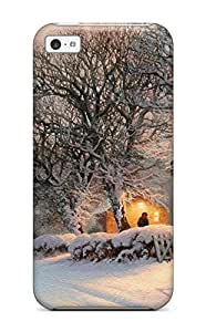Durable Protector Case Cover With Winter Artistic Abstract Artistic Hot Design For Iphone 5c