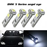 1994 camaro headlights - Partsam 2x White Error Free Angel Eyes 2825 T10 159 259 555 147 2821 558 192 161 158 194 124 585 656 657 464 655 Canbus No Error HID Xenon 6000K LED bulbs for 2004-2007 BMW 5 Series E60 Pre-LCI Headlight