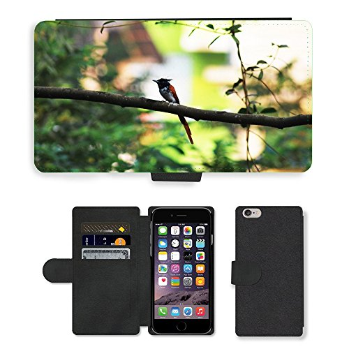 Just Phone Cases PU Leather Flip Custodia Protettiva Case Cover per // M00128108 Oiseau en dehors Varanda Benaulim Beach // Apple iPhone 6 PLUS 5.5""