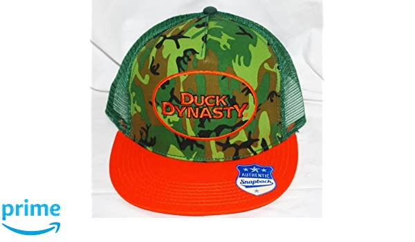 New Duck Dynasty Red Neck Approved Baseball Cap//Hat Black Camo Orange Duck