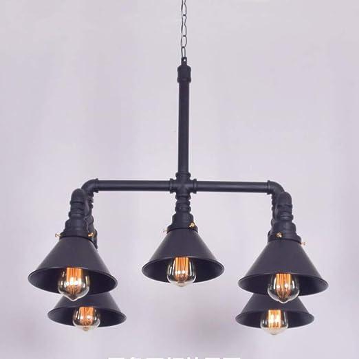Dsrgwe Lamparas Techo Colgantes, 5 Luces Vintage lámpara de Techo ...
