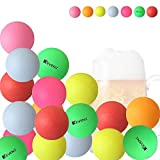 #10: KEVENZ 40mm Beer Ping-Pong Multipul Color Balls,Washable Plastic Glow In The Dark, Plastic Table Tennis Ball (Pong Games 50-Pack,144-Pack)