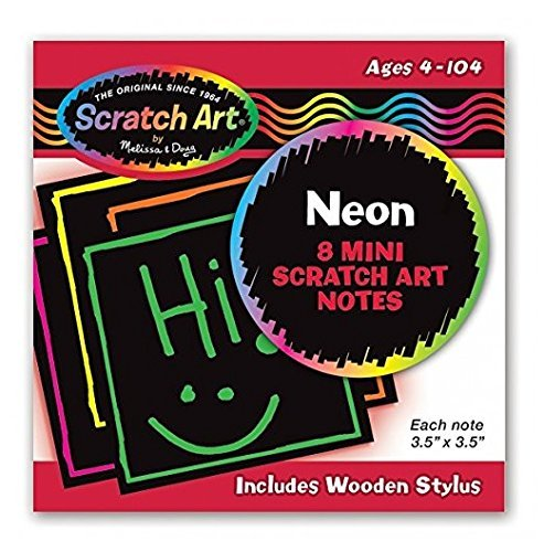 Melissa /& Doug Neon Mini Scratch Notes STAUM 5841