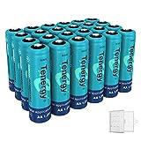 Tenergy NiMH AA, 1.2V AA, High Capacity 2600mAh 24 Pack Double A Cell, Bonus 6 Battery Cases