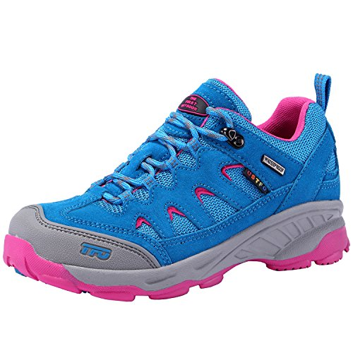 THE FIRST OUTDOOR Women's Breathable Low Waterproof Shock Absorb Hiking Shoes US 6.5