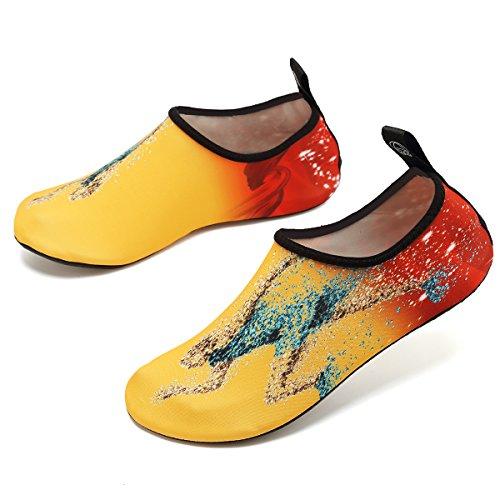 Vifuur Chaussures De Sport De Leau Pieds Nus À Séchage Rapide Aqua Yoga Chaussettes Slip-on Pour Hommes Femmes Enfants Courir