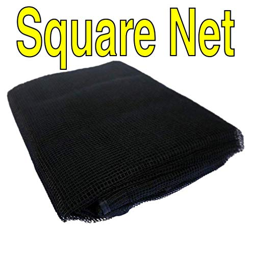 7' Square Frame - Trampoline Replacement Nets | Sizes 8 ft Thru 15 ft | Net Only | Poles and Top Ring Not Included (Square/Rectangle Nets, Rectangle 12' x 7' | Fits 8 Poles | Straps)