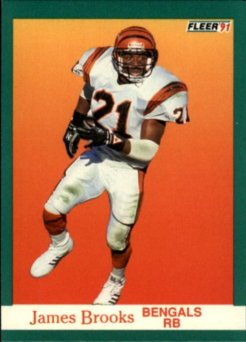 (1991 Fleer Football Card #16 James Brooks Near)