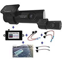 HDVD BlackVue DR750S-2CH 64GB, Car Black Box Recorder with Power Magic Pro, Built-in Wi-Fi, Cloud, 1080p Full HD, 60FPS, G Sensor, GPS, 64GB SD Card + Fuse tap Warning Sign Included