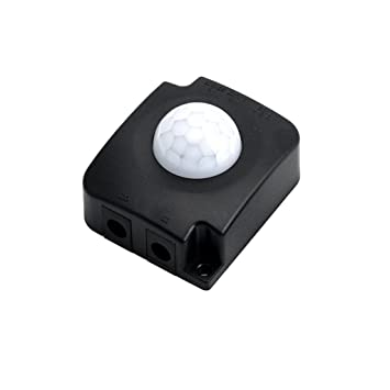 JOYKK Automático DC 12V 24V 10A Cuerpo infrarrojo PIR Detector de Movimiento Sensor Switch - Negro: Amazon.es: Hogar