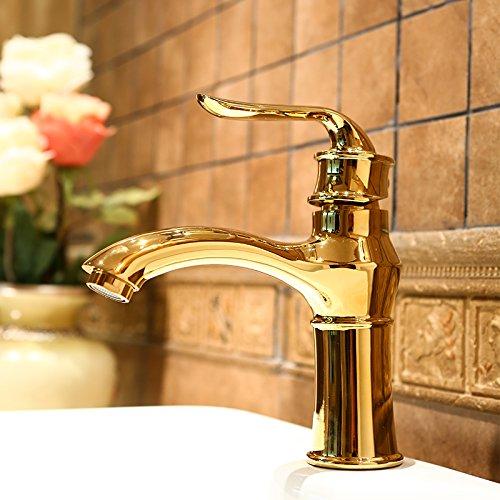 Makej Alle Becken Wasserhahn VerGoldeten Kupfer Heiß - - - Und Kaltwasser Bad Becken Erschließen Ein 34ed8e