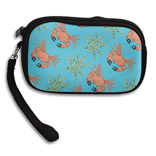 Cute Coin Bag Key Bag Personality Storage Bag Coin Purse Mini Wallet Stone Crab Marijuana Cool (Best Stone Crab In Key West)