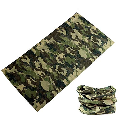 Headband for Men and Women Yoga Sports Wide Headbands Neck Gaiter Bandana Balaclava Scarf (16Navy Camouflage)