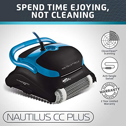 Dolphin Nautilus CC Plus Automatic Robotic Pool Cleaner with Easy to Clean Top Load Filters Ideal for Swimming Pools up to 50 Feet