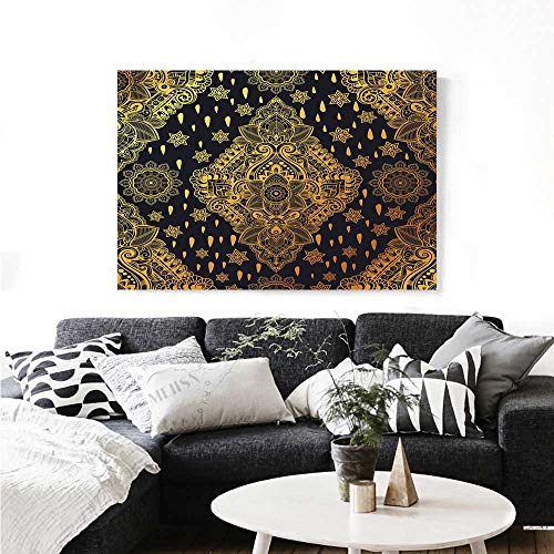 Art Bohemian Paisley Ornament Henna Tattoo Ethnic Tribal Vintage Design Print Paintings for Home Wall Office Decor 36