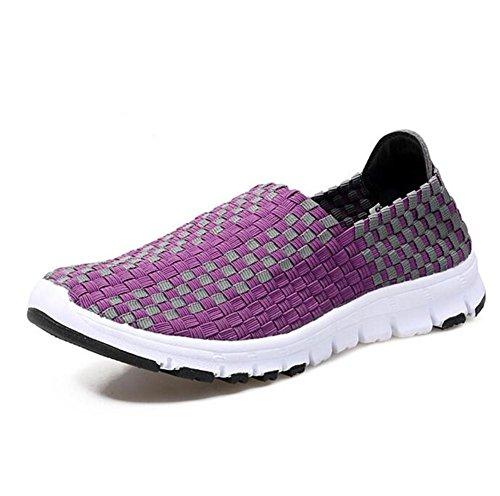 Mano Deportes Hechos Perezoso Zapatos Mujer de a XIE Zapatos de Casuales purple Zapatos Zapatos Zapatos OWwq0gWYH