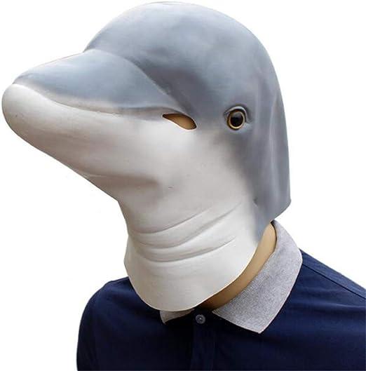 Lixinfushi Máscara Divertida Y Divertida De Látex con Delfines ...