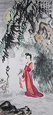 [Chinese Ink and Wash Painting]-Jude with gentle breeze and bright moon- 100% creative by Master Song - 41.34 x 19.69 inches