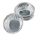 Moldiy Disposable 2.5' Aluminum Foil Tart/Pie Pans Mold(250 pcs)