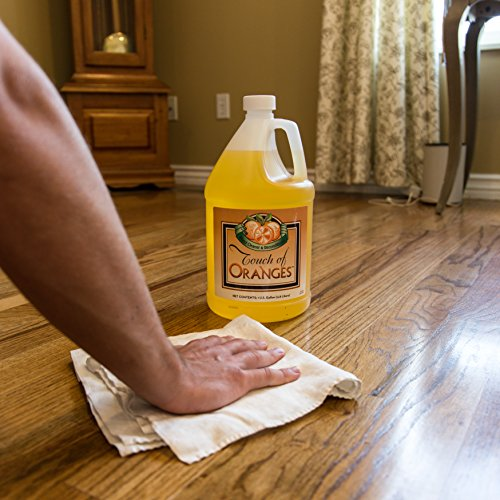 Wood Cleaner and Restorer for Hardwood Floor, Wood Furniture and Wood Cabinet Cleaner with Orange Oil (Gallon) by Touch Of Oranges (Image #2)
