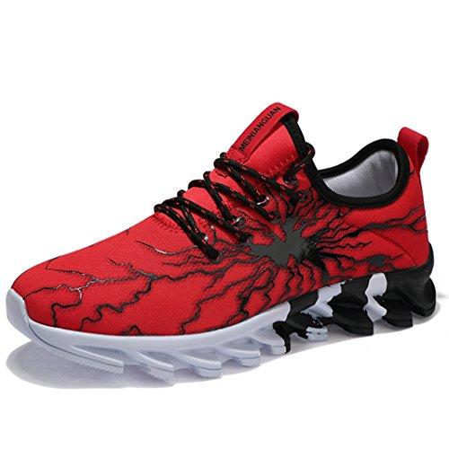SUADEEX Hommes Basket Mode Chaussures de Sports Garcon Chaussures de Course Fitness Gym athl