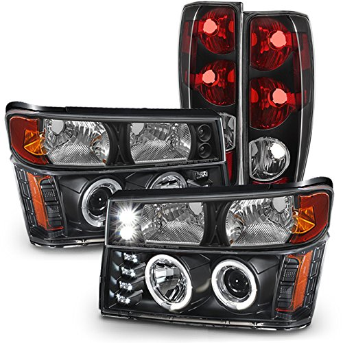 Set Black Fog Lamp Spot Light Fit Chevrolet Colorado: Headlight GMC Canyon, GMC Canyon Headlights