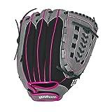 """Best Wilson Sporting Goods Baseball Gloves - Wilson Flash Baseball Gloves, Black/Hot Pink, 11.5"""", Right Review"""