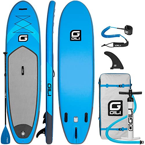 GILI 10'6 Inflatable Stand Up Paddle Board Package (10'6