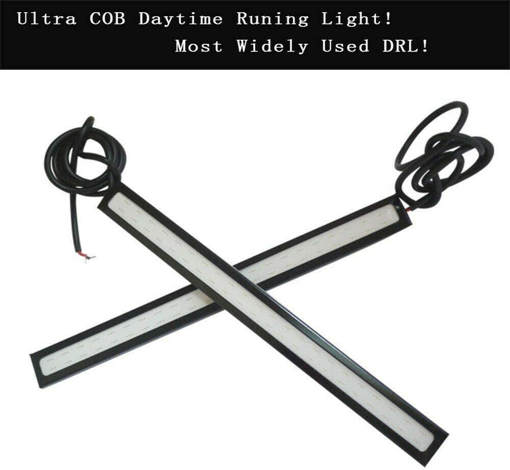 styleinside 20Pcs COB Daytime Running Light,12V LED Strip DRL Daytime Running Lights Fog COB Car Lamp Blue Day Driving