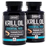 ONNIT Antarctic Krill Oil - 1000mg Per Serving - No Fishy Smell or Taste - Packed with Omega-3s, EPA, DHA, Astaxanthin & Phospholipids - Supports Healthy Joints, Brain, Heart, and Blood Pressure