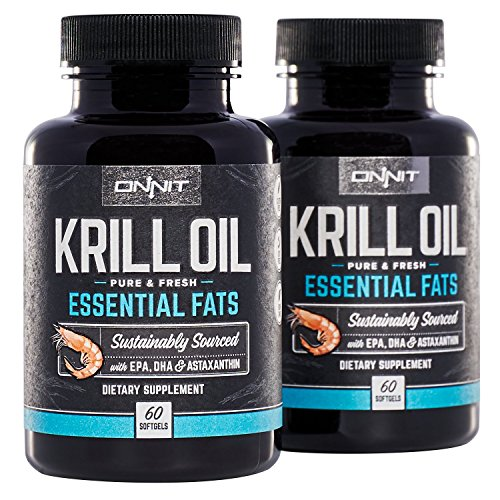 ONNIT Antarctic Krill Oil – 1000mg Per Serving – No Fishy Smell or Taste – Packed with Omega-3s, EPA, DHA, Astaxanthin & Phospholipids – Supports Healthy Joints, Brain, Heart, and Blood Pressure