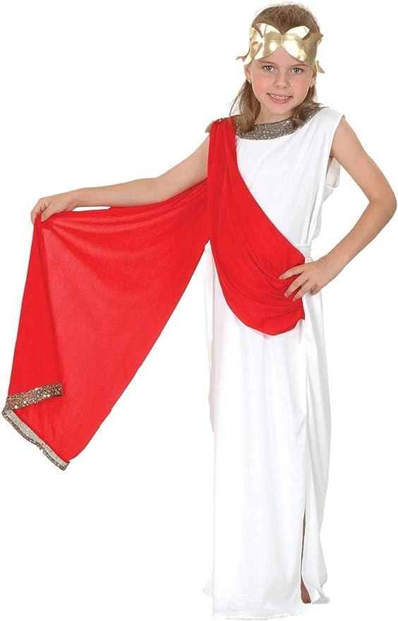 EL CARNAVAL Disfraz Romana niña Talla de 6 a 8 años: Amazon.es: Hogar