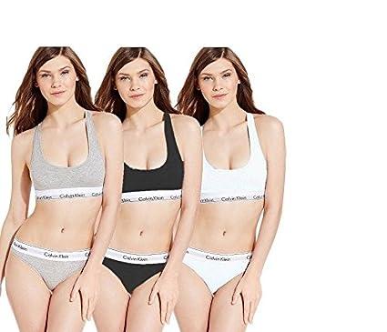 1b493f367 Image Unavailable. Image not available for. Colour  Calvin klein-- Women s Cotton  Bralette and Briefs Underwear Set