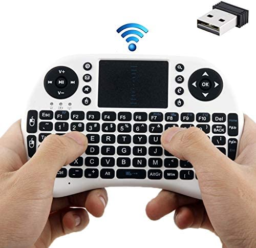 Premium Material White 2.4GHz 92 Keys Mini Wireless Keyboard Mouse Combo with Touchpad