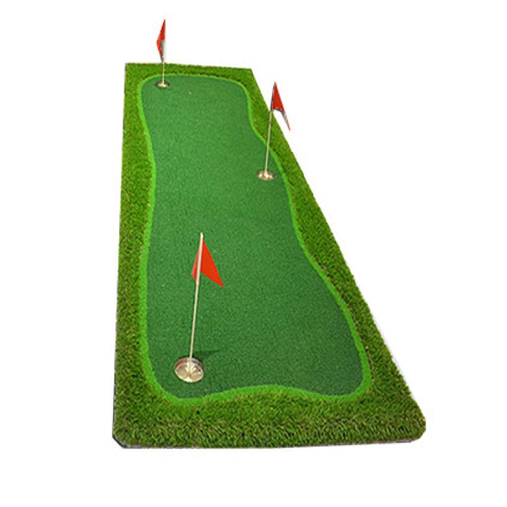 IAIZI ゴルフパットプラクティスパッド室内の運転とチッピングの練習マットグリーンを打つゴルフ75 * 300センチメートル   B07KFKLCF5