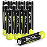 RayHom AAA Rechargeable Batteries 1100mAh Ni-MH Battery (12 Pack)