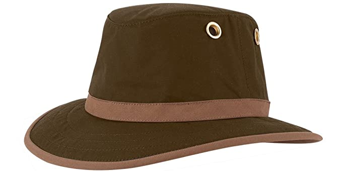 Tilley Endurables TWC7 Outback Waxed Cotton Hat Olive 7 574abeb3d41